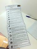 MOSKOU, RUSLAND - SEPTEMBER 18, 2016: De stemmingen voor electio Stock Fotografie