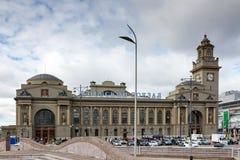 MOSKOU, RUSLAND - September 16, 2017 - het hoofdgebouw van Kievsky-station in Moskou Royalty-vrije Stock Fotografie