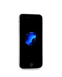 MOSKOU, RUSLAND - SEPTEMBER 25, 2016: Nieuwe zwarte iPhone 7 is een sma Stock Foto's