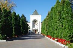 MOSKOU, RUSLAND - September 21, 2015: St Daniel klooster in Mos stock afbeeldingen