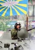05 09 2012, Moskou, Rusland Viering van de Overwinnings` s Dag Parade van speciaal materiaal royalty-vrije stock afbeelding