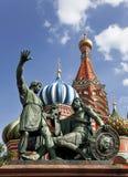 Moskou. Het monument aan Minin en Pozharsky op Rood vierkant Royalty-vrije Stock Fotografie