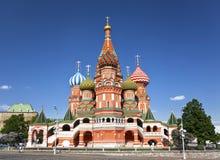 Moskou. St. de Kathedraal van het basilicum. Rusland Royalty-vrije Stock Afbeeldingen