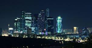 Moskou-stad nachtlandschap Royalty-vrije Stock Afbeelding