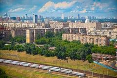 Moskou - stadslandschap, het historische deel van de stad Royalty-vrije Stock Afbeeldingen