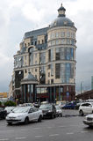 Moskou, stBalchug 2 Centrale Bank van de Russische Federatie (Bedelaars stock fotografie