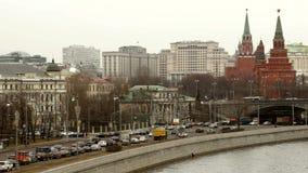 Moskou, tijdtijdspanne stock footage