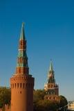 Moskou. Torens van het Kremlin Stock Foto