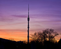 Moskou, TV-toren Ostankino Stock Foto's