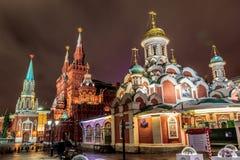 Moskou vóór het nieuwe jaar Stock Foto