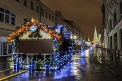 Moskou vóór het nieuwe jaar Royalty-vrije Stock Foto