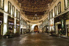 Moskou vóór het nieuwe jaar Royalty-vrije Stock Afbeeldingen