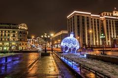 Moskou vóór het nieuwe jaar Royalty-vrije Stock Foto's