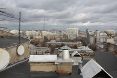 Moskou van het dak Royalty-vrije Stock Afbeelding