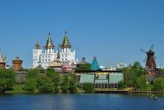 Moskou, vernisage in Izmaylovo Stock Afbeeldingen