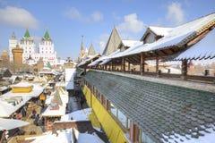 moskou Vernissage en het Kremlin in Izmailovo Stock Afbeeldingen