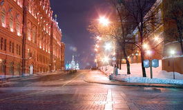 Moskou, weg in het Rode Vierkant Royalty-vrije Stock Foto