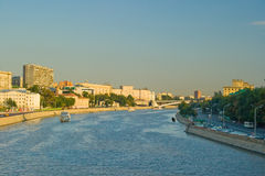 Moskova River. The Moskova river during autumn in Moscow, Russia Stock Photos