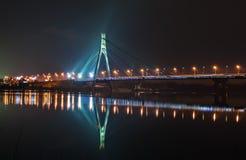 Moskovskiy bridge at night Royalty Free Stock Photos