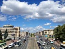 Moskovskiy Prospekt στην Άγιος-Πετρούπολη στοκ εικόνα με δικαίωμα ελεύθερης χρήσης