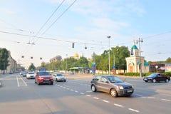 Moskovsky-Allee in St Petersburg Lizenzfreies Stockfoto