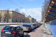 Moskovsky-Allee in St Petersburg Lizenzfreie Stockfotografie