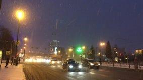 Moskovsky Prospekt,冬天,雪 股票录像
