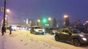 Moskovsky Prospekt,冬天,雪 影视素材