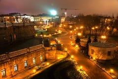 Moskow night. Moskow travel sity center night river illuminated Royalty Free Stock Photography