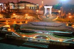 Moskow night. Moskow travel sity center night river illuminated Royalty Free Stock Photos