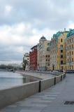 Moskva河河岸在秋天 免版税图库摄影