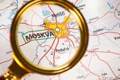 moskva карты стоковая фотография