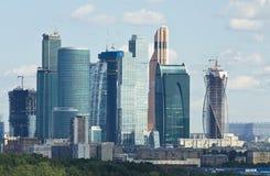 Moskva affärscentrumMoskva-stad Arkivbild