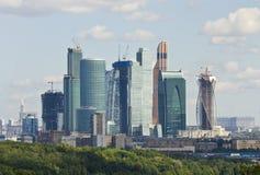 Moskva affärscentrumMoskva-stad Fotografering för Bildbyråer