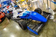 MOSKVA - AUGUSTI 2016: Formel Renault 2 0 SMP Racing som framläggas på MIAS Moscow International Automobile Salon på Augusti 20,  Arkivbilder