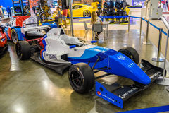 MOSKVA - AUGUSTI 2016: Formel Renault 2 0 SMP Racing som framläggas på MIAS Moscow International Automobile Salon på Augusti 20,  Arkivfoto