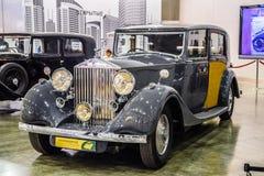 MOSKVA - AUGUSTI 2016: Rolls-Royce Phantom III 1937 som framläggas på MIAS Moscow International Automobile Salon på Augusti 20, 2 Arkivbilder
