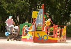 Moskva Cherkizovsky parkerar Arkivfoto