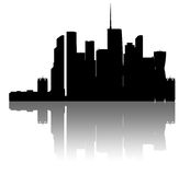 Moskva-city skyline. Detailed silhouette. Stock Photo