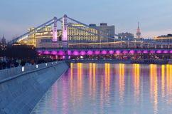 Moskva Crimean bro fotografering för bildbyråer