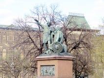 Moskva den Minin och Pozharsky monumentet 2011 Royaltyfri Fotografi