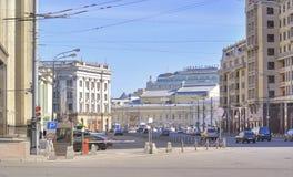 Moskva. En gata är Okhotnyen Ryad Fotografering för Bildbyråer
