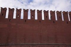 Moskva för fragmentKremlvägg Arkivbild