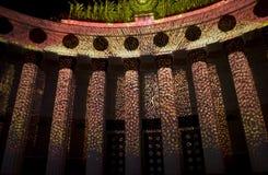 Moskva festival av ljus Arkivbild