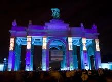 Moskva festival av ljus Royaltyfri Bild