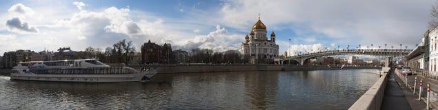 Moskva flod, Moskva, rysk federal stad, rysk federation, Ryssland Royaltyfria Bilder