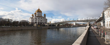 Moskva flod, Moskva, rysk federal stad, rysk federation, Ryssland Fotografering för Bildbyråer