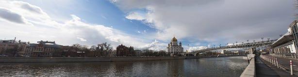 Moskva flod, Moskva, rysk federal stad, rysk federation, Ryssland Royaltyfria Foton