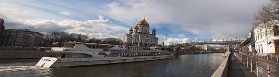 Moskva flod, Moskva, rysk federal stad, rysk federation, Ryssland Arkivbild