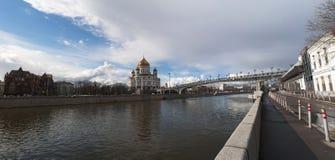 Moskva flod, Moskva, rysk federal stad, rysk federation, Ryssland Royaltyfri Bild